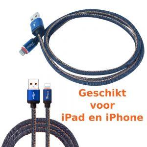 Kabel voor iPad of iPhone (Lightning USB kabel)